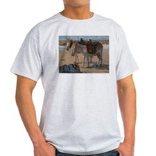 Vintage Painting of Two Pack Mules T-Shirt