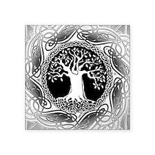 Celtic Tree Square Sticker