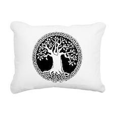 Celtic Tree Rectangular Canvas Pillow