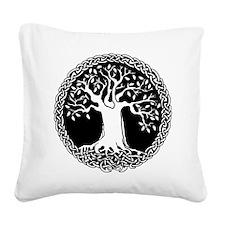 Celtic Tree Square Canvas Pillow