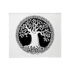 Celtic Tree Throw Blanket