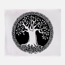 Celtic Tree Throw Blanket