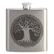 Celtic Tree Stailness Steel Flask