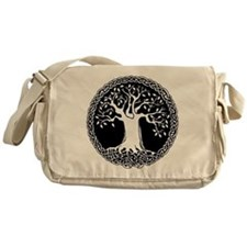 Celtic Tree Cotton Canvas Messenger Bag