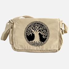 Celtic Tree Cotton Canvas Messenger Bag