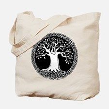 Celtic Tree Canvas Tote Bag