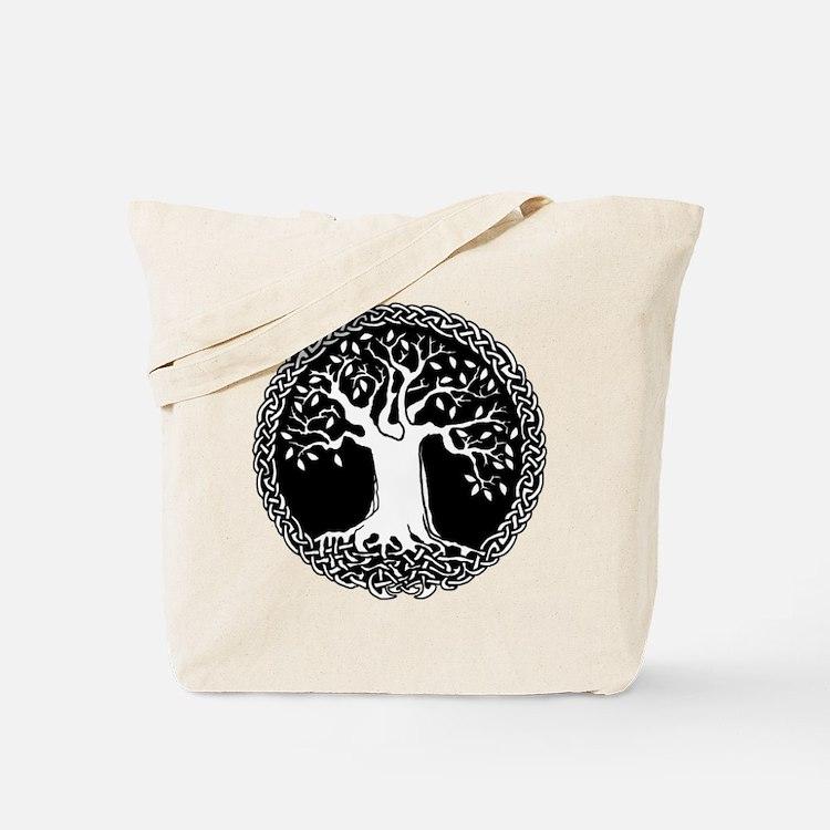 Celtic Tree Canvas Tote Bag