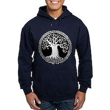 Celtic Tree Hoodie (choose from black or navy)