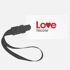 I Love Nicole Luggage Tag
