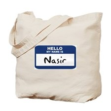 Hello: Nasir Tote Bag