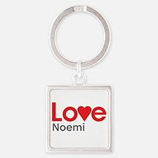 I Love Noemi Square Keychain
