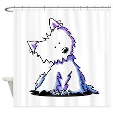 Curious Westie Shower Curtain