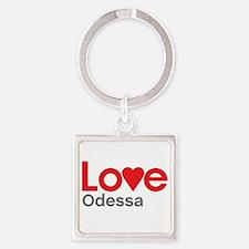 I Love Odessa Square Keychain