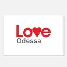I Love Odessa Postcards (Package of 8)