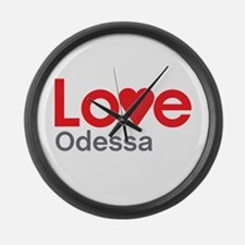 I Love Odessa Large Wall Clock