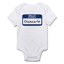 Hello: Giancarlo Infant Bodysuit