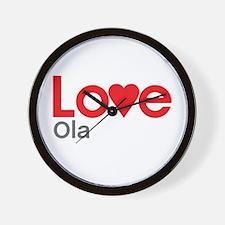 I Love Ola Wall Clock