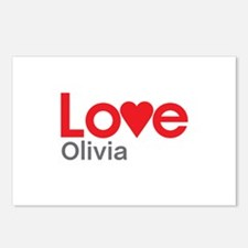 I Love Olivia Postcards (Package of 8)