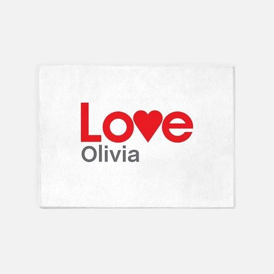 I Love Olivia 5'x7'Area Rug