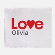I Love Olivia Throw Blanket