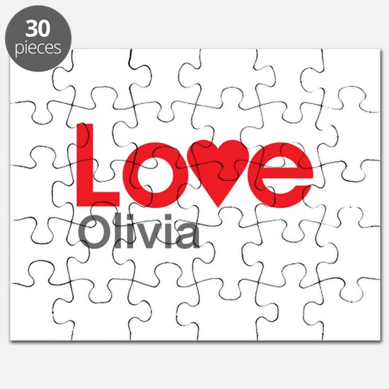 I Love Olivia Puzzle