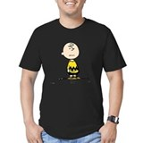 Charlie brown Fitted T-shirts (Dark)