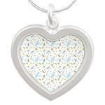 Little Dragonflies Silver Heart Necklace