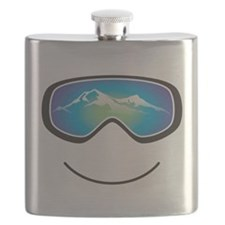 Happy Skier/Boarder Flask