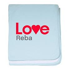 I Love Reba baby blanket