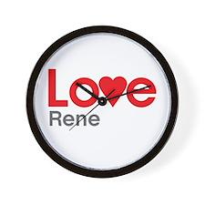 I Love Rene Wall Clock