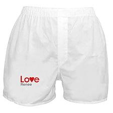I Love Renee Boxer Shorts