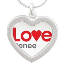 I Love Renee Silver Heart Necklace