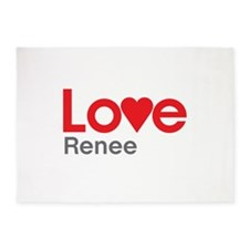 I Love Renee 5'x7'Area Rug