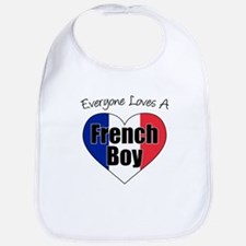 Everyone Loves French Boy Bib