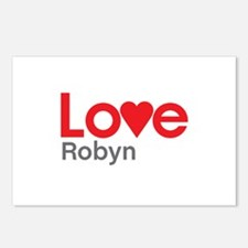 I Love Robyn Postcards (Package of 8)