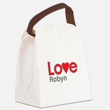 I Love Robyn Canvas Lunch Bag
