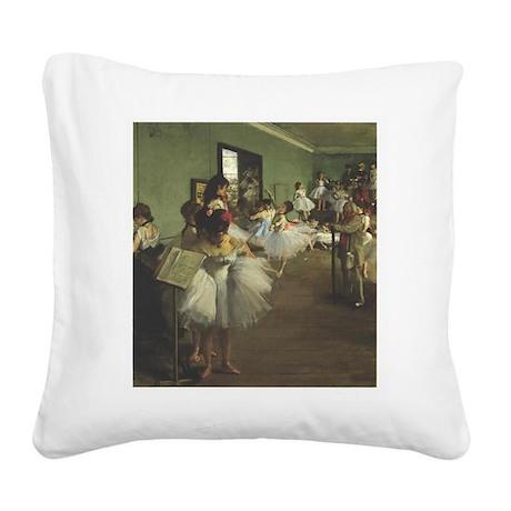 degas Square Canvas Pillow
