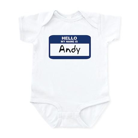 Hello: Andy Infant Bodysuit