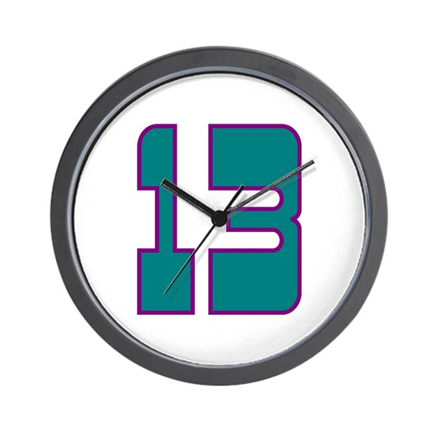 Boy 13 Wall Clock By Numbersonthings