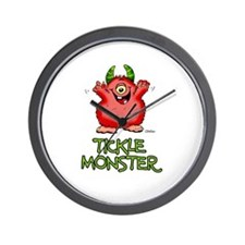 Red Tickle Monster with horns and one eye Wall Clo