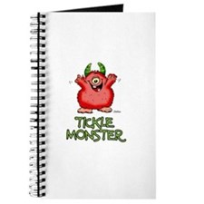 Red Tickle Monster with horns and one eye Journal
