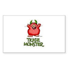 Red Tickle Monster with horns and one eye Decal