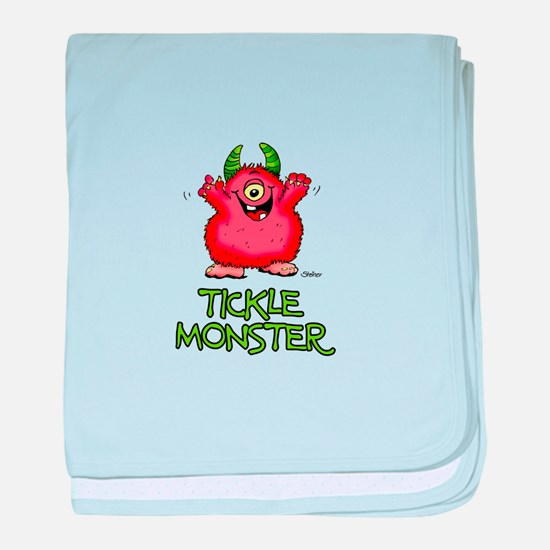 Red Tickle Monster with horns and one eye baby bla