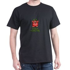 Red Tickle Monster with horns and one eye T-Shirt