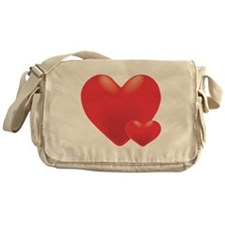 Two Hearts Messenger Bag