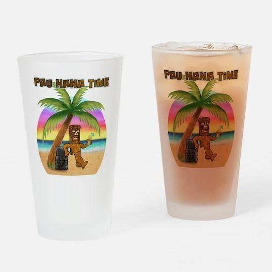 Pau Hana Tiki Drinking Glass