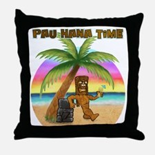 Pau Hana Tiki Throw Pillow