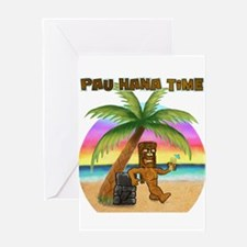 Pau Hana Tiki Greeting Card