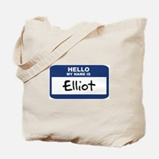 Hello: Elliot Tote Bag