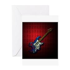 KuuMa Guitar 02 (R) Greeting Card